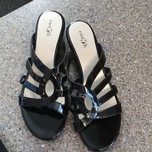 East 5th strappy black dress low heels